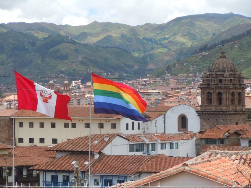 Bandeira do Peru e dos Incas - Cusco, Peru. Foto: Guilherme Mendes Thomaz