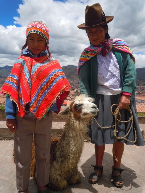 Cholito, Llamita y Cholita - Cusco, Peru