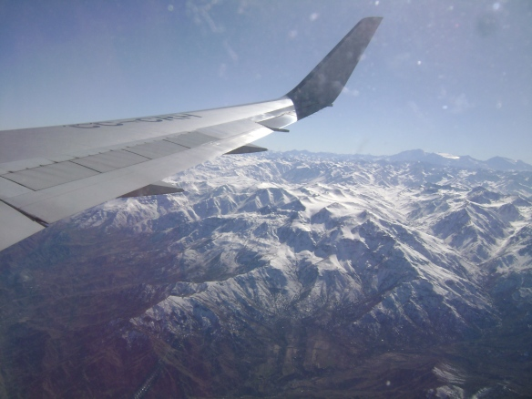 Vista panorãmica da Cordilheira dos Andes, Chile