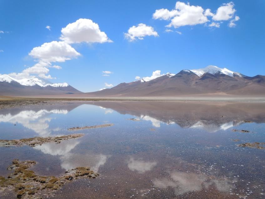 Espelho d'Agua nas Lagoas Altiplânicas, Bolívia