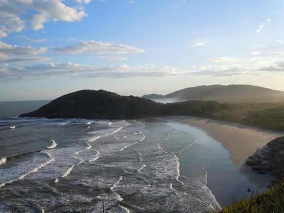 Vista panorâmica da Praia de Fora - Ilha do Mel, PR, Brasil