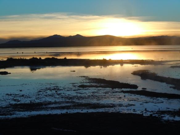 Nascer do Sol nas Águas Termales, Bolívia